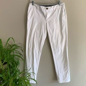 Tommy Hilfiger White Cropped Chino Pants Trouser